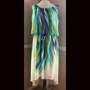 Gorgeous Soft Flowing Watercolor High-Low Dress